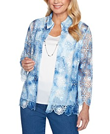 Petite Pearls Of Wisdom 2019 Layered-Look Blouse