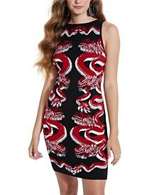 Maisha Dragon Jacquard Dress