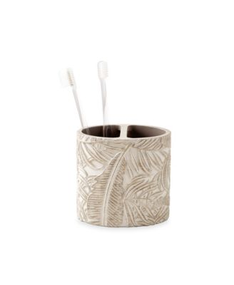 Palm Wood Toothbrush Holder
