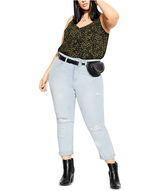 City Chic Trendy Plus Size Animal-Print Cami