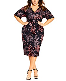 Trendy Plus Size Etched Bloom Dress