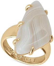 Gold-Tone Stone Statement Ring