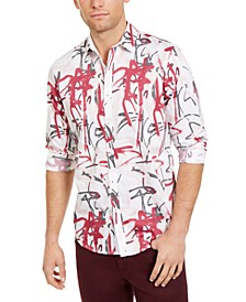 INC Men's Graffiti Heart Printed Shirt, Created For Macy's