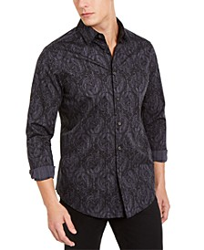 Men's Stretch Paisley Stripe Shirt, Created For Macy's