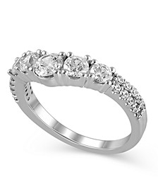Certified Diamond (1-1/4 ct. t.w.) Contour Band in 14K White Gold