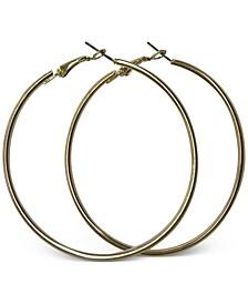 """Large Tubular Hoop Earrings, 2.25"""""""