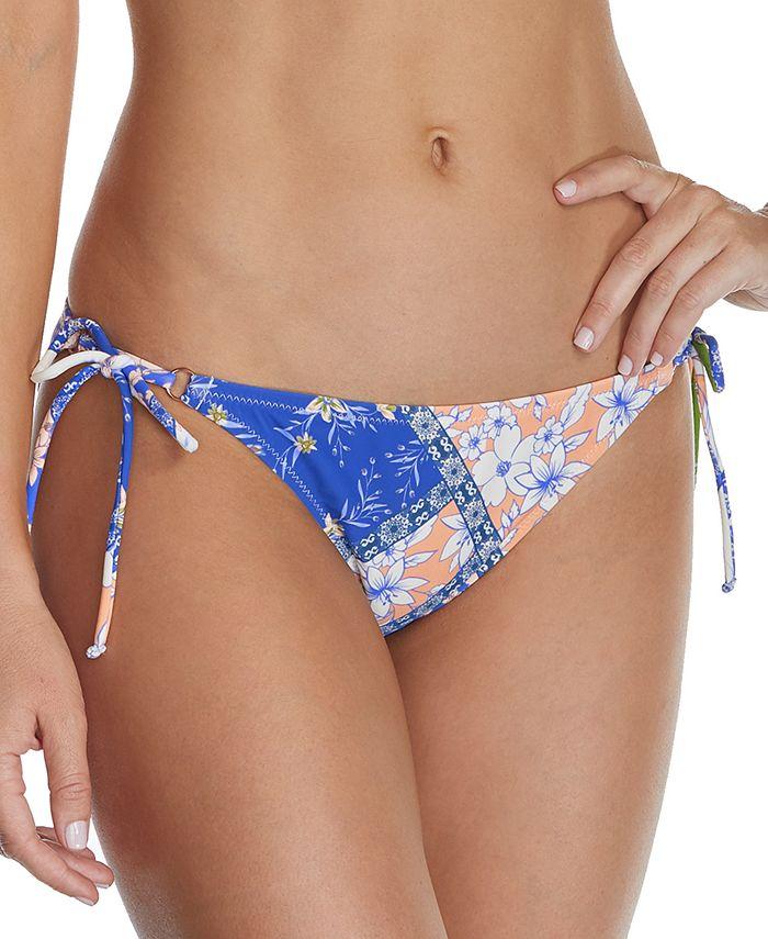 Raisins - Juniors' Las Brisas Printed Side-Tie Bikini Bottoms