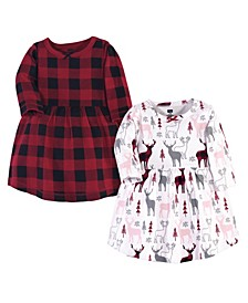 Baby Girl Cotton Dresses, Set of 2