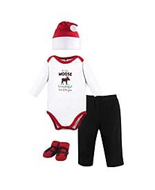 Baby Boy Holiday Clothing 4 Piece Gift Set
