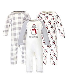 Baby Boy and Girl Coveralls and Union Suits, Set of 3