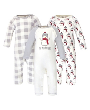 Touched By Nature Baby Boy and Girl Coveralls and Union Suits, Set of 3