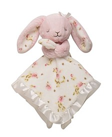 Vintage-Like Rose Bunny Snuggle Buddy Security Blanket
