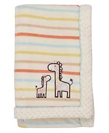 Giraffe Embroidered Baby Blanket