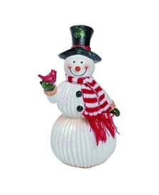 Resin Large White Christmas Cheerful Snowman