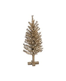 Plastic  Gold Christmas Champagne Tree Decor