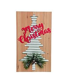 Wood Red Christmas Decor
