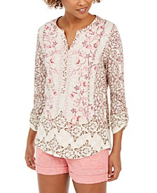 Printed Textured Knit Top, Created for Macy's