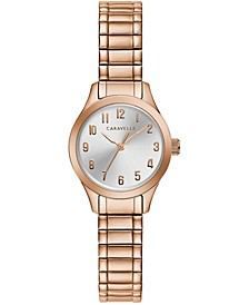Women's Rose Gold-Tone Stainless Steel Expansion Bracelet Watch 24mm