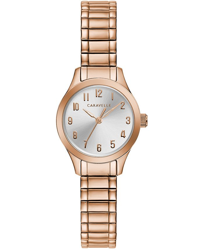 Caravelle - Women's Rose Gold-Tone Stainless Steel Expansion Bracelet Watch 24mm