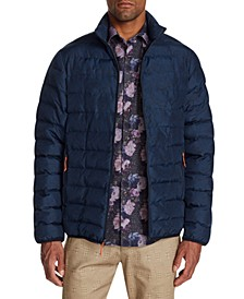 Men's Slim-Fit  Water Resistant Paisley Puffer Jacket