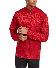 Men's Tonal Leopard Spot Shirt