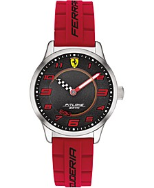 Kid's Pitlane Red Silicone Strap Watch 34mm