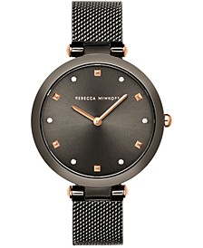 Women's Nina Gray Stainless Steel Mesh Bracelet Watch 33mm