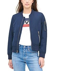 Women's Zip-Detail Bomber Jacket