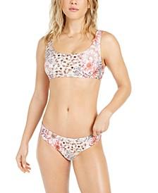 Savannah Print Bralette Bikini Top & Hipster Bottoms