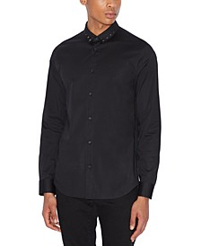 Men's Studded Collar Shirt