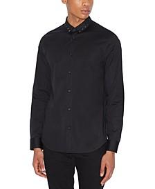Men's Studded Collar Shirt
