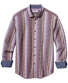 Men's Surf Springs Stripe Classic-Fit Stretch Check Shirt