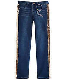 Big Girls Sequin-Stripe Jeans
