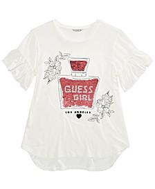 Big Girls Flip Sequin Perfume-Print T-Shirt