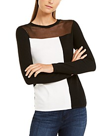 INC Colorblocked Illusion Sweater, Created For Macy's