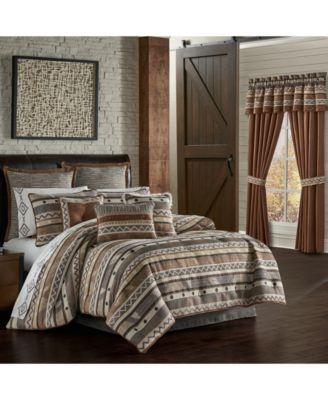 Jqueen Timber Linen Queen 4 Piece Comforter Set