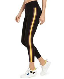 Striped High-Waist Leggings
