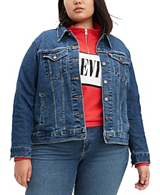 Trendy Plus Size Ex-Boyfriend Trucker Jean Jacket