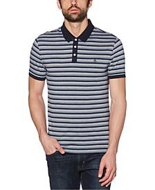 Men's Regular-Fit Stripe Jacquard Polo Shirt