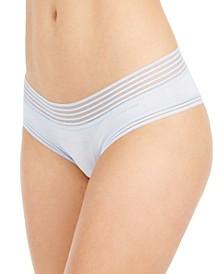 Striped-Waist Hipster Underwear QD3672