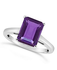 Amethyst (3-1/10 ct. t.w.) Ring in Sterling Silver.