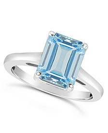 Sky Blue Topaz (4-1/6 ct. t.w.) Ring in Sterling Silver. Also Available in Rose Quartz (3-1/4 ct. t.w.)