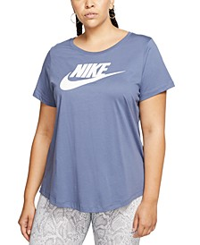 Plus Size Sportswear Cotton Logo T-Shirt