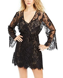 INC Floral Lace Wrap Robe, Created for Macy's