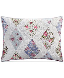 Reversible Diamond Floral Patchwork Standard Sham, Created for Macy's