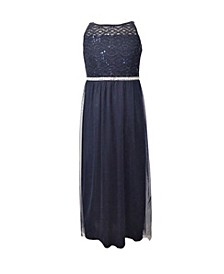 Big Girls Social Maxi Dress with Mesh and Lace