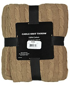 "Classic Throw Collection Cotton Rib Knit, 50"" X 70"""