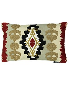 "Southwest Collection Navajo Clay Embroidery Lumbar Pillow, 14"" 22"""