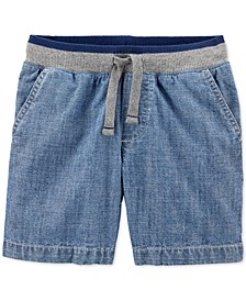 Toddler Boys Cotton Chambray Pull-On Dock Shorts