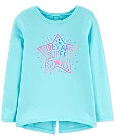 Little & Big Girls Cotton Super Stars T-Shirt